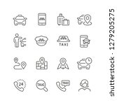 taxi related icons  thin vector ... | Shutterstock .eps vector #1279205275