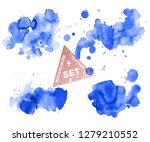 set of colorful abstract... | Shutterstock .eps vector #1279210552