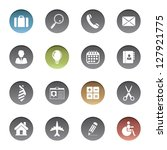 business icons. vector version... | Shutterstock . vector #127921775