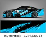 racing car wrap design....   Shutterstock .eps vector #1279230715