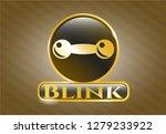 golden emblem or badge with... | Shutterstock .eps vector #1279233922