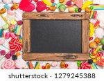 pink candies  lollipops and... | Shutterstock . vector #1279245388
