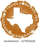 vintage distressed texas state... | Shutterstock .eps vector #127924628