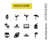 season icons set with ball for...