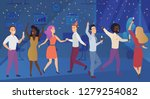new year corporate party or... | Shutterstock .eps vector #1279254082