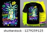 new york city american liberty... | Shutterstock .eps vector #1279259125