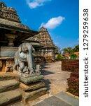 Veera Narayana temple, an ancient hindu temple under indian archaeological department at Belavadi village, Chikkamagaluru district of Karnataka state, India.
