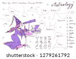 hand drawn stargazer astrologer ... | Shutterstock .eps vector #1279261792