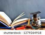 hat graduation model on money...   Shutterstock . vector #1279264918