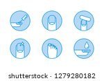 manicure vector icons | Shutterstock .eps vector #1279280182
