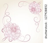 Hand Drawing Floral Frame With...