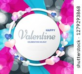 happy valentines day concept... | Shutterstock .eps vector #1279293868