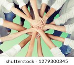top view of young business team | Shutterstock . vector #1279300345
