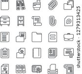 thin line icon set   office... | Shutterstock .eps vector #1279313425