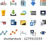 color flat icon set scatter...   Shutterstock .eps vector #1279315255