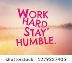 inspirational quote on blurred... | Shutterstock . vector #1279327405