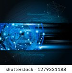 abstract technology vector... | Shutterstock .eps vector #1279331188