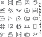 thin line icon set   camera... | Shutterstock .eps vector #1279341418