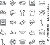 thin line icon set   spoon and... | Shutterstock .eps vector #1279341682