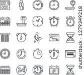 thin line icon set   24 around...   Shutterstock .eps vector #1279349218