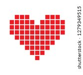 heart icon for print  gift  web ... | Shutterstock . vector #1279349515