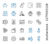 rich icons set. collection of... | Shutterstock .eps vector #1279352128
