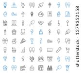 scoop icons set. collection of... | Shutterstock .eps vector #1279352158
