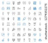 vanilla icons set. collection... | Shutterstock .eps vector #1279352275
