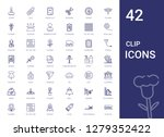 clip icons set. collection of...   Shutterstock .eps vector #1279352422