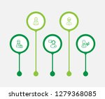 set of 5 position icons line... | Shutterstock . vector #1279368085