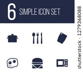 set of 6 culinary icons set.... | Shutterstock . vector #1279368088