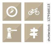 set of 4 relax icons set.... | Shutterstock . vector #1279368115