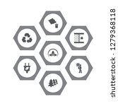set of 7 ecology icons set.... | Shutterstock . vector #1279368118