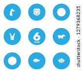 set of 6 zoo icons set.... | Shutterstock .eps vector #1279368235