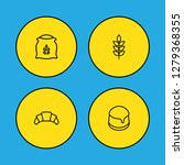 set of 4 food icons line style... | Shutterstock . vector #1279368355