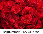 Stock photo romantic background of a bouquet of red greeting card for valentines day birthday anniversary 1279376755