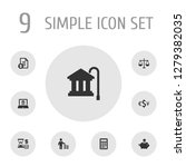 set of 9 budget icons set.... | Shutterstock . vector #1279382035