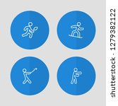 set of 4 athletic icons line... | Shutterstock .eps vector #1279382122