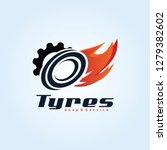 tyre shop logo design   tyre... | Shutterstock .eps vector #1279382602