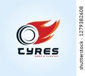 tyre shop logo design   tyre... | Shutterstock .eps vector #1279382608
