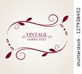 vintage floral frame. element... | Shutterstock .eps vector #127938452