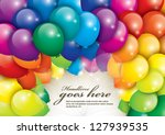 Vector Of Balloons In Various...