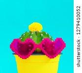 colorful cactus design.... | Shutterstock . vector #1279410052