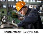 technician working in factory... | Shutterstock . vector #127941536