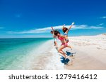 teenage friends having fun on... | Shutterstock . vector #1279416412