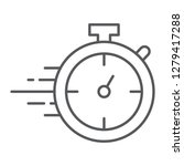 stopwatch thin line icon  watch ... | Shutterstock .eps vector #1279417288