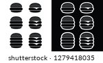 hamburger and cheeseburger icon ... | Shutterstock .eps vector #1279418035