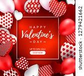 valentines day sale banner.... | Shutterstock .eps vector #1279421662