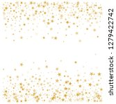 sparkling gold stars background ... | Shutterstock .eps vector #1279422742