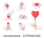 love body language concept.... | Shutterstock .eps vector #1279441102